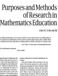 Purpose and Methods of Research in Math