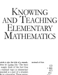 Knowing and Teaching Math
