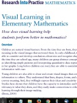 Visual Learning in Elementary Math